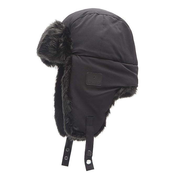 c32d665f31a63 Amazon.com  Exact Fit Men s Trapper Hat with Bluetooth Heaphones  Clothing