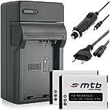 Alimentation voiture 2batteries + chargeur (,) pour en-el23de/Nikon Coolpix Coolpix B700, P600, P610, P900, S810C