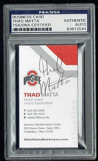 Thad Matta Signed Autograph Business Card Ohio State Basketball