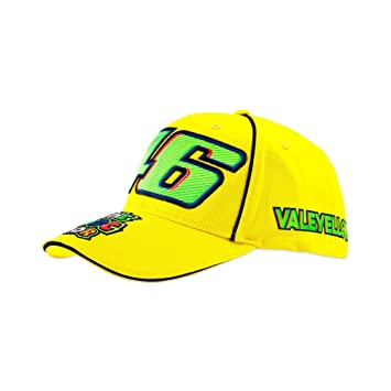 5baa509796b VR46 Valentino Rossi 46 cap Men Vale Cap Yellow One Size  Amazon.co ...