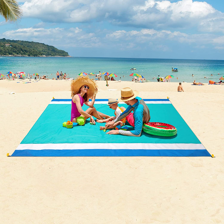WIWIGO Sandproof Beach Blanket, Oversized Sand Free Beach Mat 79