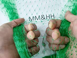 MM&HH Heavy-Duty Stretchy Bird Netting for Garden - Protect Fruits, Vegetables and Flowers from Animals Damage 13 x 33ft Green with 50 PCS of Zip Ties