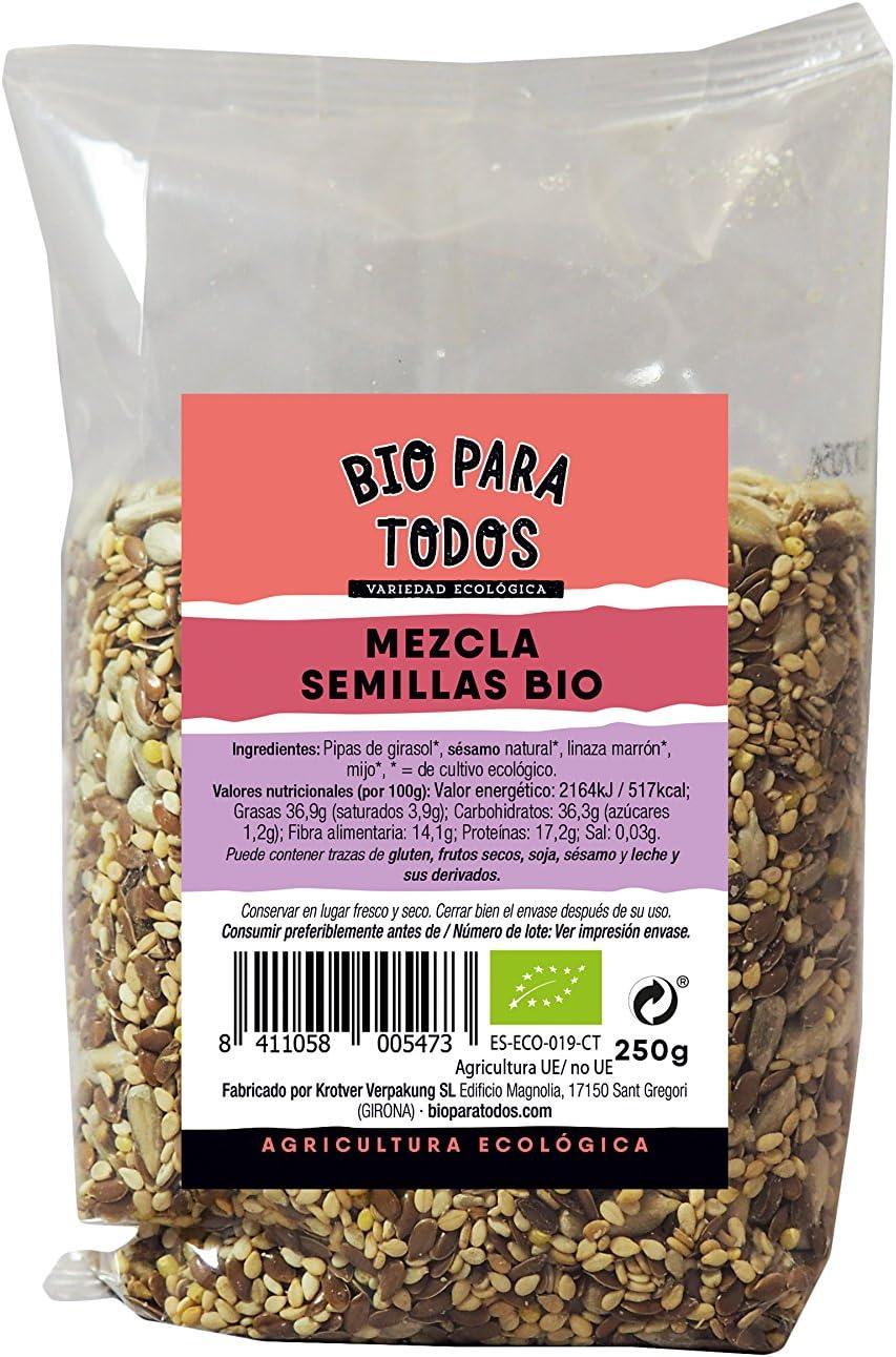 Bio para todos Mezcla de Semillas Para Pan de - 12 Paquetes de 250 gr - Total: 3000 gr: Amazon.es: Alimentación y bebidas