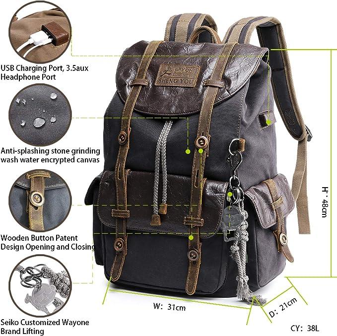 MIJUGGH Canvas Backpack Ufocado UFO Avacado Rucksack Gym Hiking Laptop Shoulder Bag Daypack for Men Women