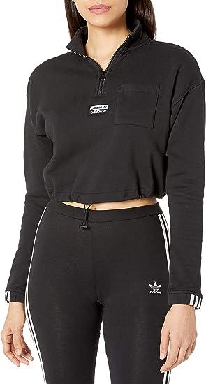 adidas trefoil half zip hoodie