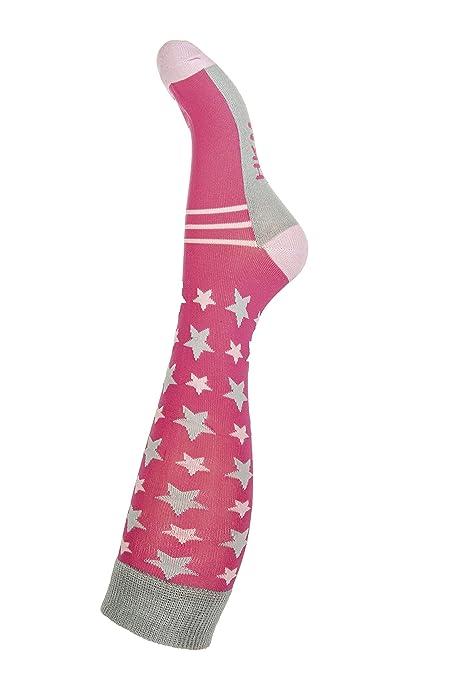 Hkm Mujer – Calcetines de equitación Star Caso Calcetines, Todo el año, Mujer,