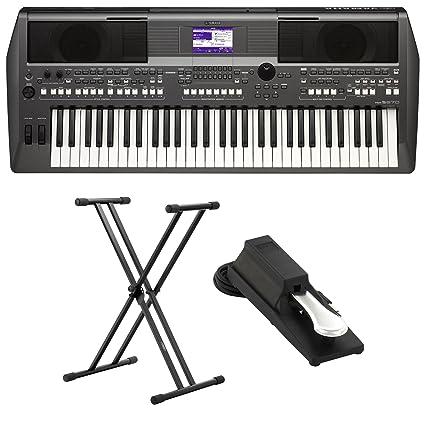 Yamaha PSR de S670 Keyboard Set (con función de DJ, incluye soporte para teclado