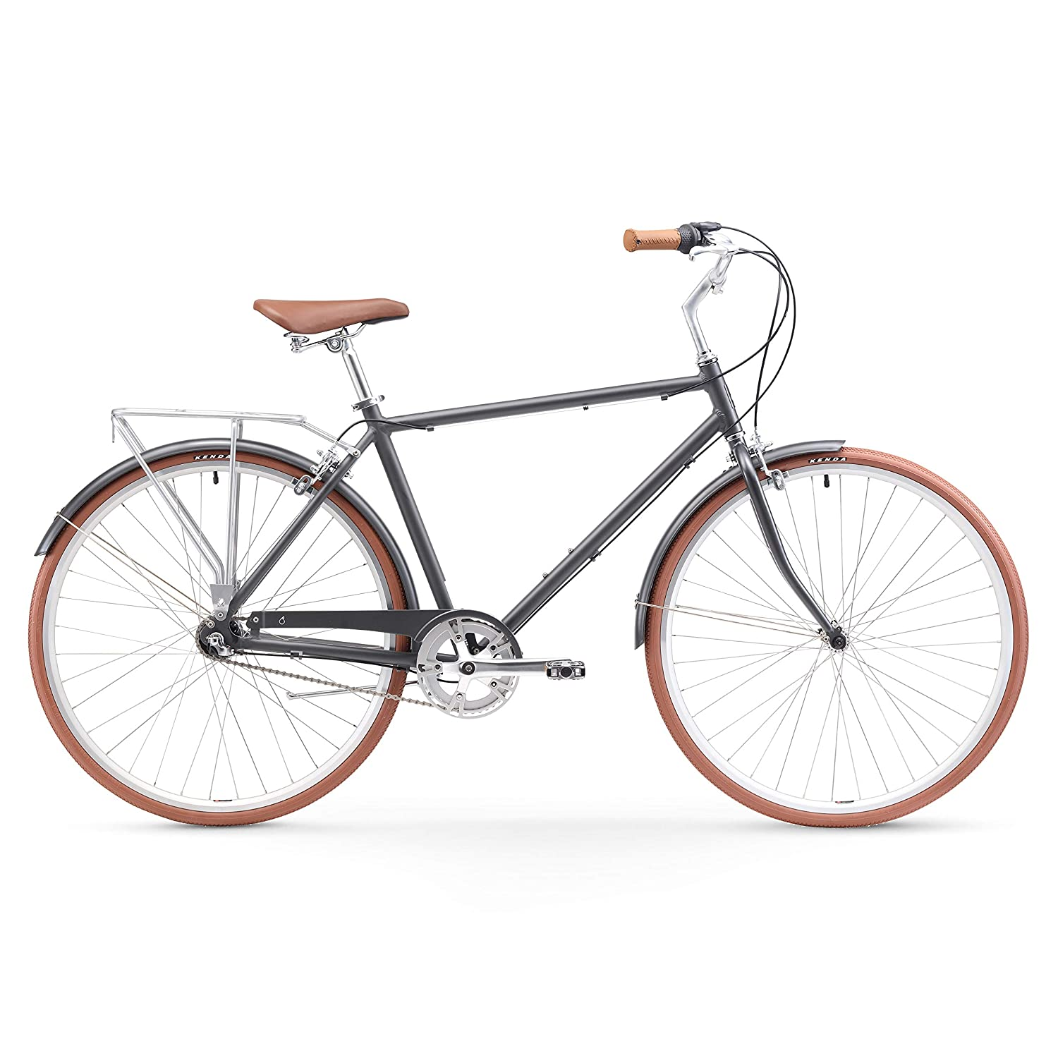 sixthreezero Ride in The Park Mens Touring City Road Bicycle with Rear Rack