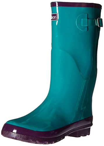 Amazon.com | Jileon Wide Calf All Weather Durable Rubber Rain ...