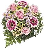 Dominik Blumen und Pflanzen, Blumenstrauß, Blütenduett, mehrfarbig, 40 x 25 x 25 cm, 755832