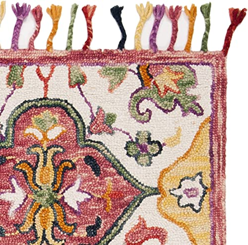 Safavieh Blossom Collection BLM456A Handmade Tassel Premium Wool Area Rug