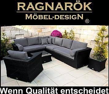 PolyRattan Lounge DEUTSCHE Marke   EIGNENE Produktion   8 Jahre GARANTIE  Auf UV Besträndigkeit   Garten
