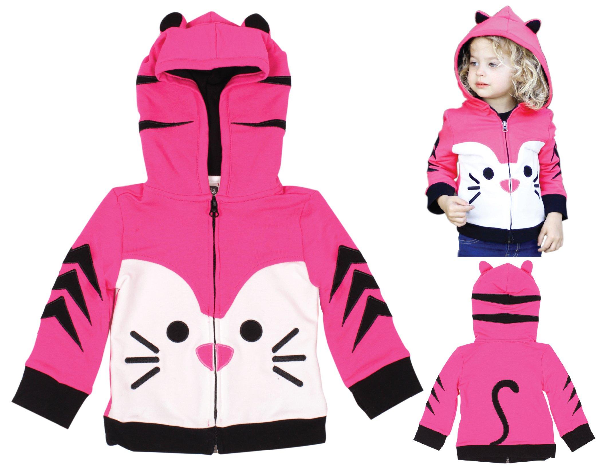 Mini Jiji Stretch Hoodie/Jacket for Baby Infant Toddler Kids (18-24 mos, Kitty) by Mini Jiji