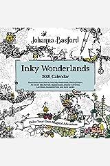 Johanna Basford 2021 Coloring Wall Calendar: Inky Wonderlands Calendar
