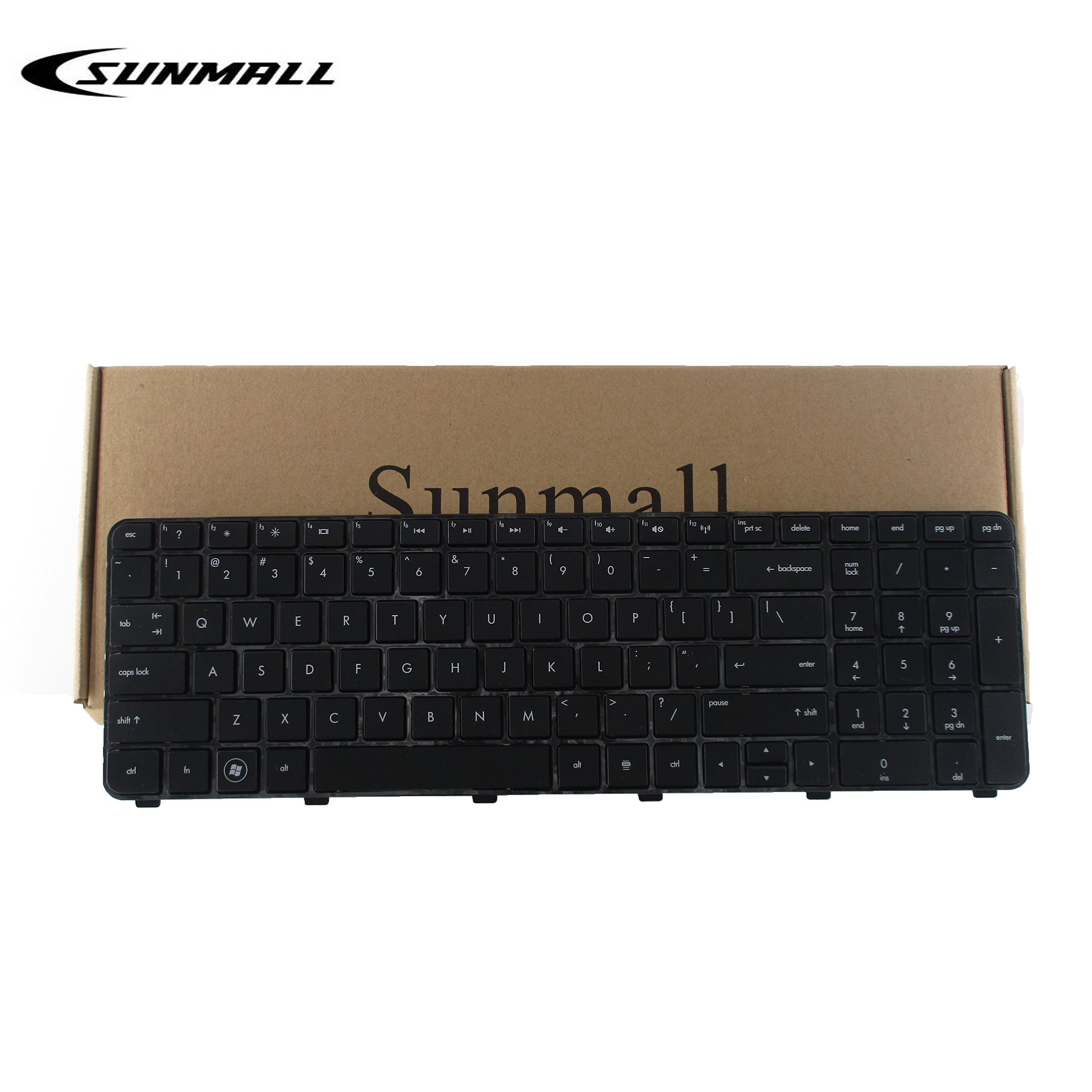 SUNMALL Laptop Keyboard Replacement for HP Pavilion DV7-6000 DV7-6100 DV7-6200 DV7-6B00 DV7-6B56NR DV7-6B55DX DV7-6C95DX DV7-6B57NR DV7t-6C00 DV7-6C DV7t-6000 series Black US Layout (6 Month warran