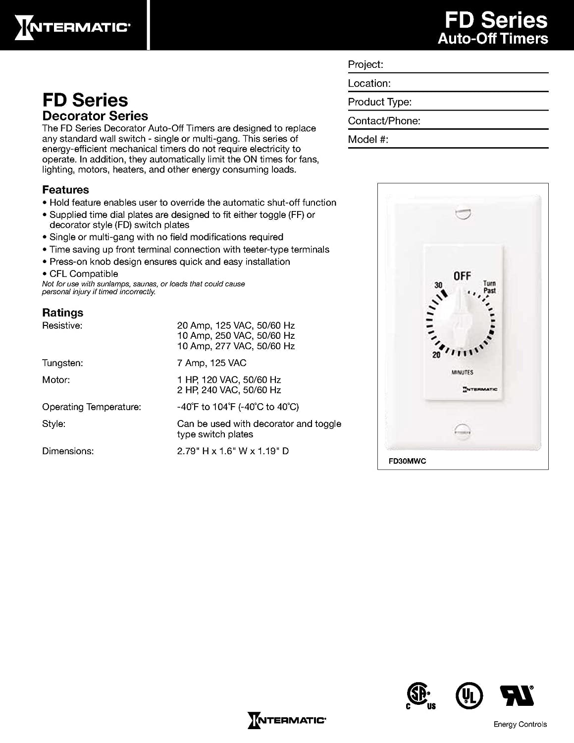 Intermatic Fd30mwc 30 Minute Countdown Wall Timer For Fans And Rrsspdt Spdt Round Rocker Switch Lights White Spa Equipment Supplies