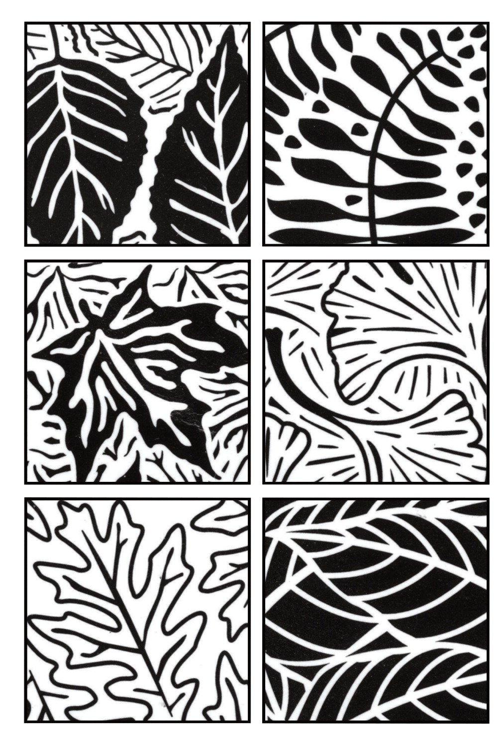 Artist's Paintstiks Rubbing Plates 6/Pkg.-Leaves by Cedar Canyon Textiles