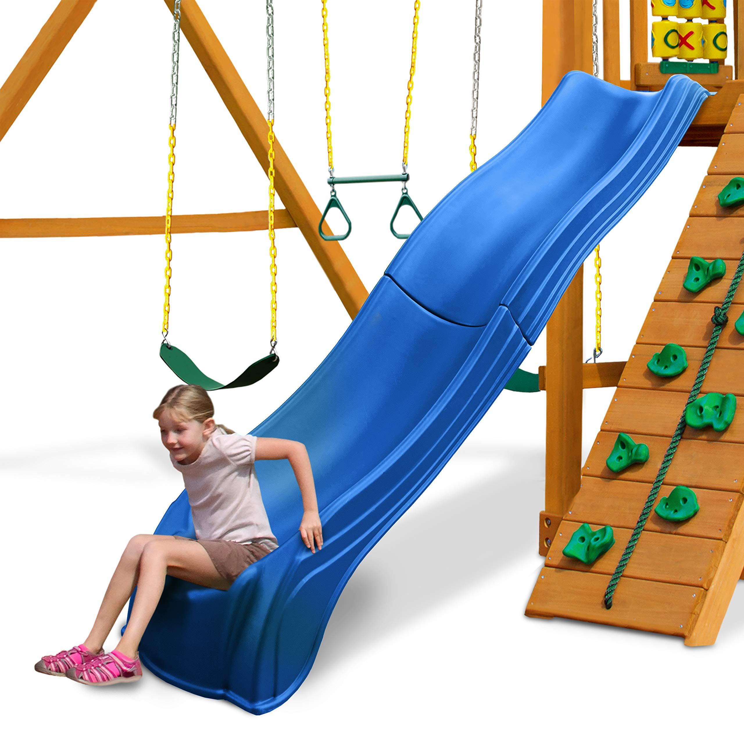 Swing-N-Slide WS 5032 Olympus Wave Slide 2 Piece Plastic Slide for 5' Decks, Blue by Swing-N-Slide (Image #6)