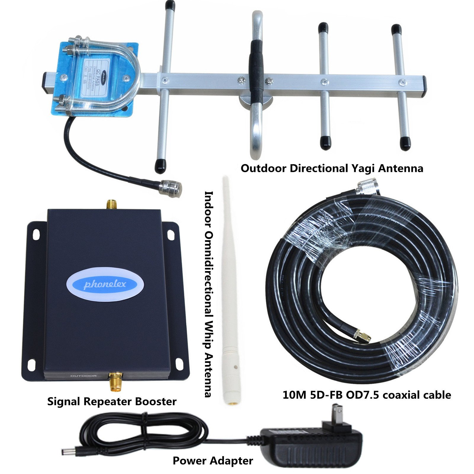 Cell Phone Signal Amplifier AT&T 4G LTE 700Mhz Band12/17 Phonelex Mobile Booster Repeater with Outside YaGi Directional and Inside Whip antennas Kits by phonelex (Image #8)