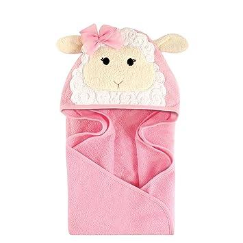 74666e870 Amazon.com : Hudson Baby Unisex Baby Animal Face Hooded Towel, Little Lamb  1-Pack, One Size : Baby