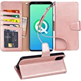 Arae Wallet Case for Google Pixel 4 XL PU Leather flip case Cover [Stand Feature] with Wrist Strap and [4-Slots] ID…
