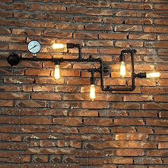 Murale Lumières Industriel Applique Hines En Vintage 5 Créatif Loft WH2IED9Y