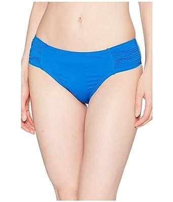 19428899d2618 Amazon.com  Tommy Bahama Womens Pearl High-Waist Side-Shirred Bikini Bottoms  Cobalt Sea Size XL  Clothing