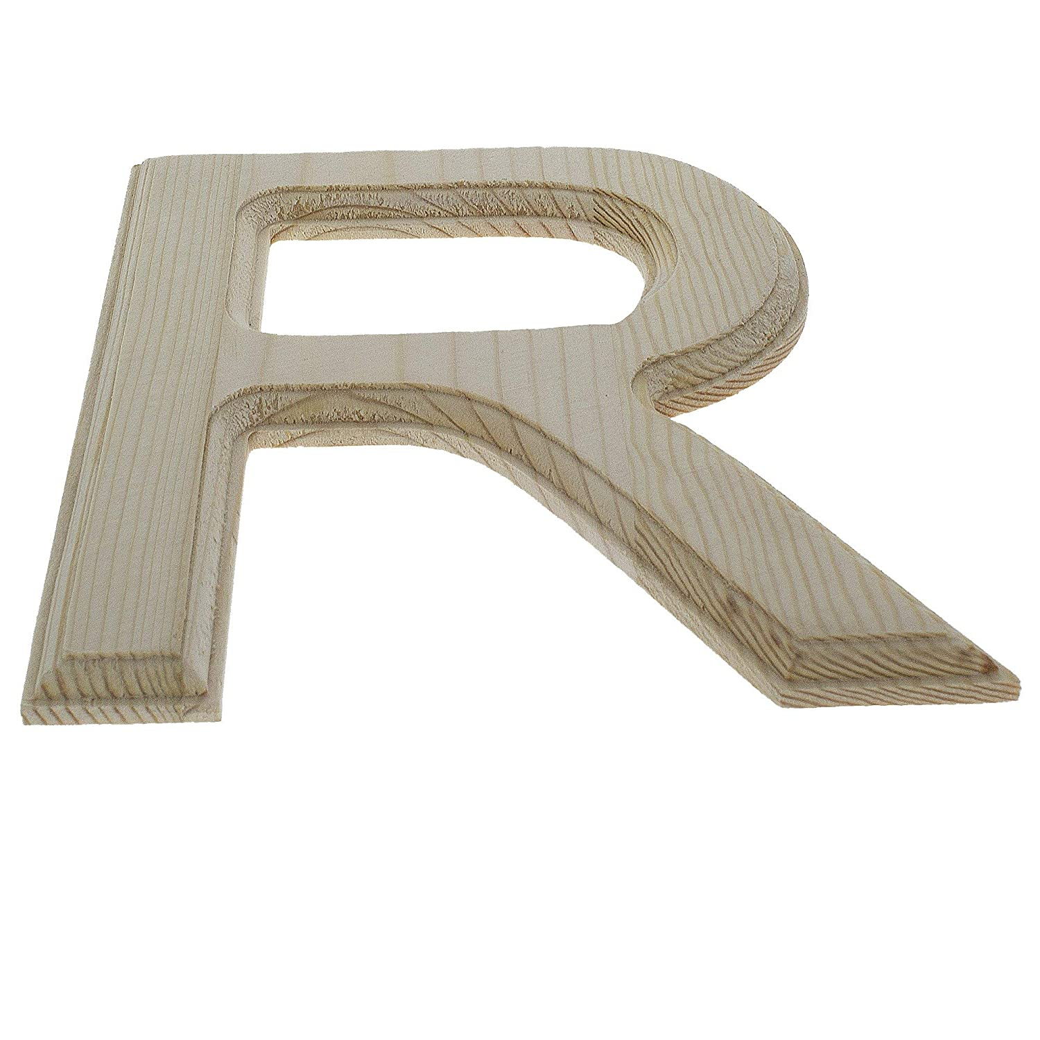 BestPysanky Unfinished Wooden Letter R 6.25 Inches