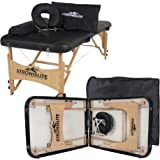"Stronglite Portable Massage Table Package Olympia - All-In-One Treatment Table w/ Adjustable Face Cradle, Pillow, Half Round Bolster & Carrying Case (28""x73"")"