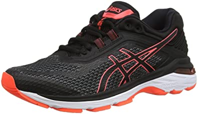 buy online 704fd ff02f ASICS Gt-2000 6, Chaussures de Running Femme, Multicolore (Black Flash