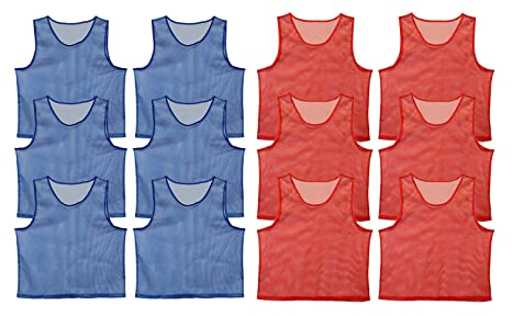 f62bec83b934 Amazon.com   Get Out! Scrimmage Vest Pinnies 12-Pack in Red and Blue ...