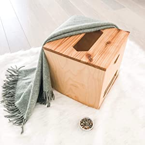 Vaginal Yoni V Steam Sauna Steamer Seat Box by Kitara. Natural Wooden Chair for Women. for PCOS Menopause Postpartum Fertility Tightening PMS Cleanse. Add Herbs Steaming Pot Bowl. Portable System