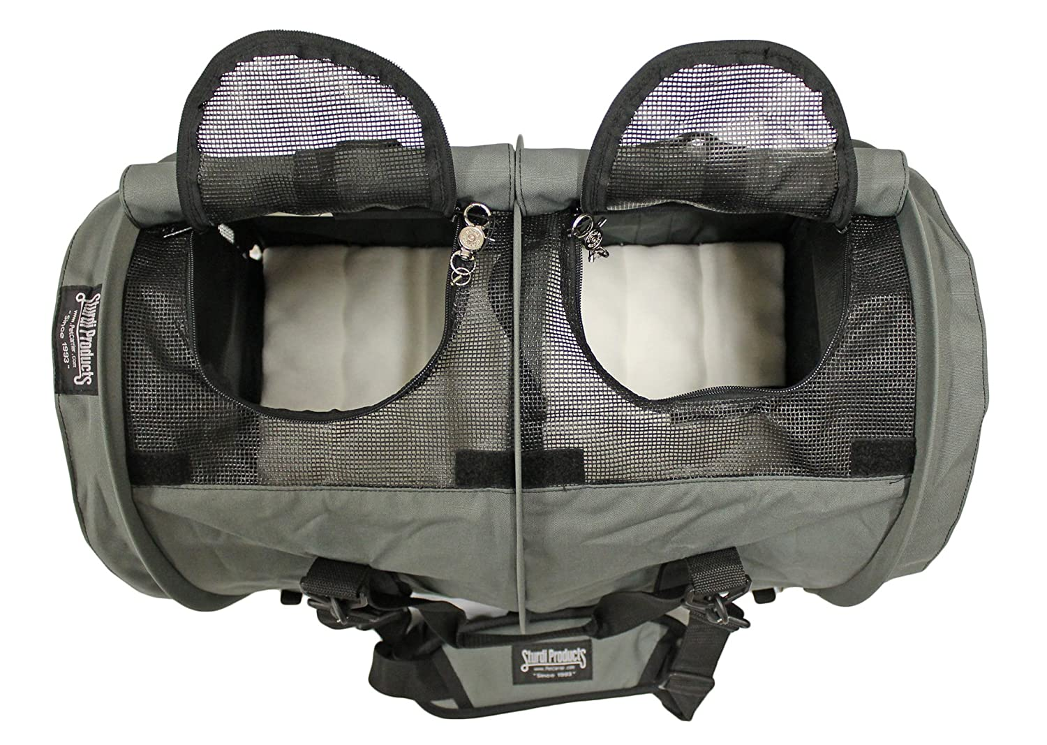 93777bac99 X-Large Black SB3D-B Sturdi Products SturdiBag Double Sided Divided Pet  Carrier