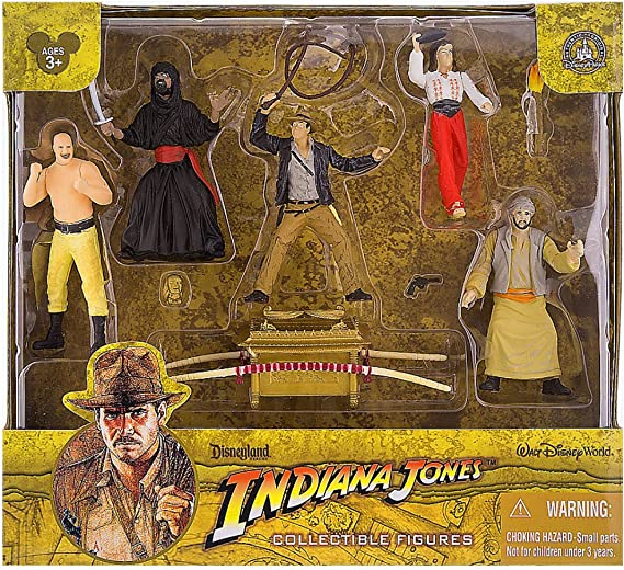 Indiana Jones Raiders of the Lost Ark Figure Set Playset Walt Disney World Exclusive by Prannoi: Amazon.es: Juguetes y juegos