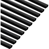 Amazon Basics Cable Raceway/Concealer with Self-Adhesive Tape - 48-Inch - Black, 10-Pack