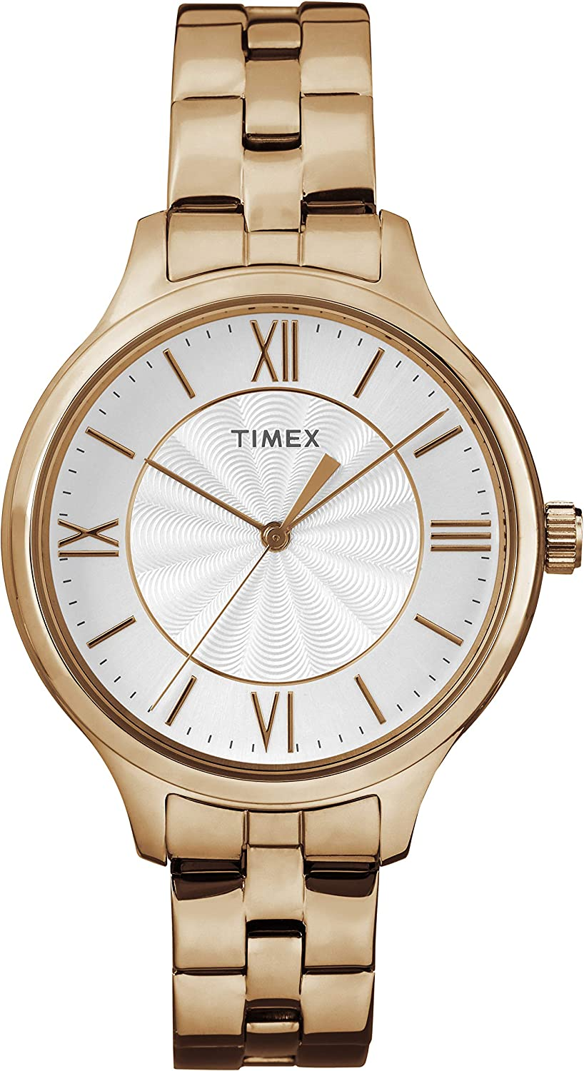 Timex Women's Peyton Stainless Steel Bracelet Watch Rose Gold-Tone/Silver-Tone