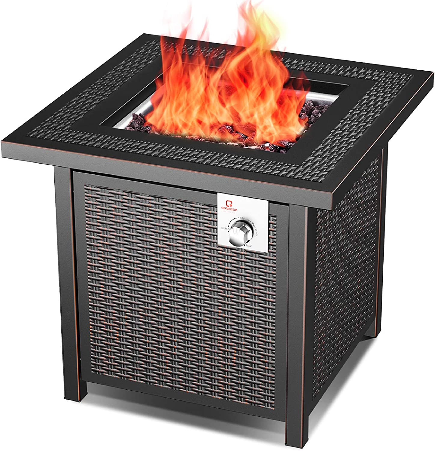Ot Qomotop Outdoor Propane Fire Pit Table 28 Inch 50 000 Btu Gas Fire Table With Auto Ignition And Csa Certification Approval Suitable For Stone Marble Wooden Floor And Grassland Amazon Co Uk Garden Outdoors