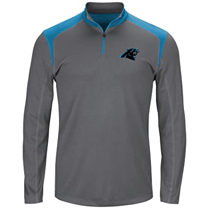 online store a7f64 d2dfc Amazon.com : NFL Mens Panthers 1/4 Zip Poly Jersey : Sports ...
