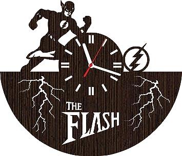 Amazon Com Wooden Wall Clock The Flash Tv Show Series Barry Allen
