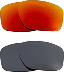 5729d5a0100 SLIVER Replacement Lenses Polarized Black Iridium   Red by SEEK fits OAKLEY