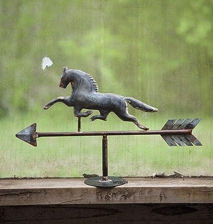 CHSGJY Rustic Horse Tabletop Galzanized Weathervane Stallion Mare  Equestrian Decor