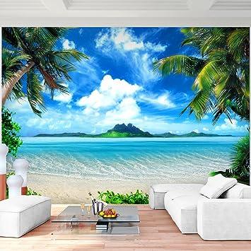 Tapete Palmen fototapete strand meer palmen 352 x 250 cm vlies wand tapete