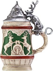Hallmark Keepsake Mini Christmas 2019 Year Dated Bitty Beer Stein Miniature Ornament, 1.12