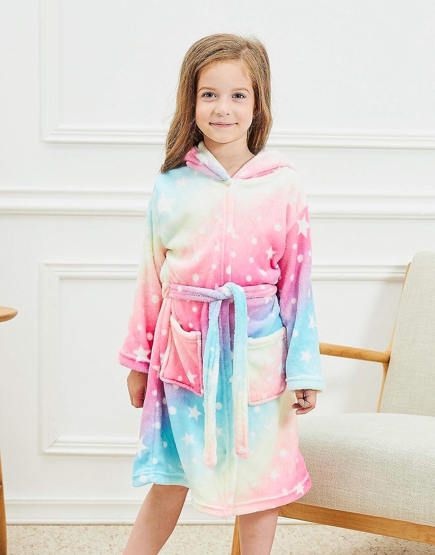 Soft Unicorn Hooded Bathrobe Gifts for Girls