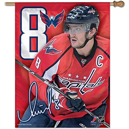 af07b9a6f14 Buy NHL Washington Capitals Alex Ovechkin 27-by-37-Inch Vertical Flag Online  at Low Prices in India - Amazon.in