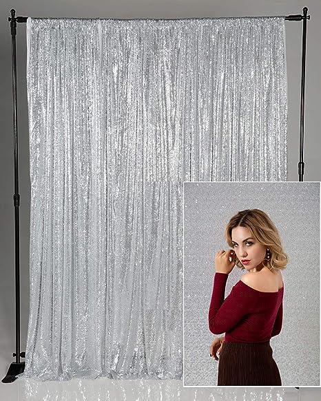Kate Hintergrund Silber Pailletten 1 25x2 2m Hochzeit Elektronik