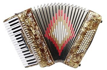 Rossetti 3460 34 teclas 60 Bass Piano acordeón con funda ...