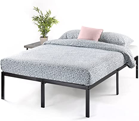Amazon Com Best Price Mattress 14 Inch Metal Platform Beds W Heavy Duty Steel Slat Mattress Foundation No Box Spring Needed Black Furniture Decor