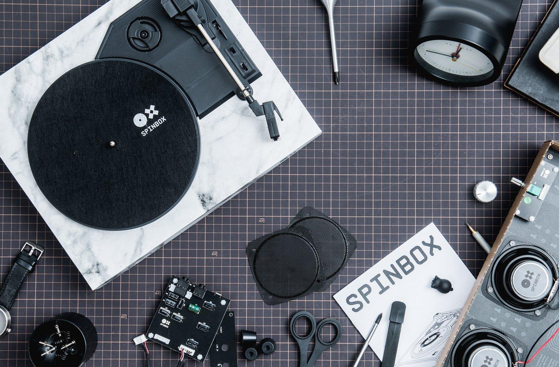 Amazon.com: amadana portátil DIY Tocadiscos spinbox ...