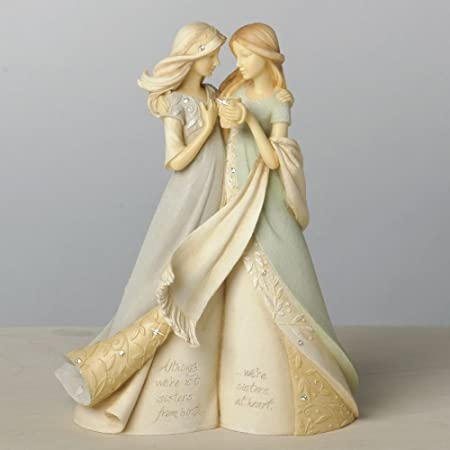 Foundations Like a Sister Stone Resin Figurine, 7.68
